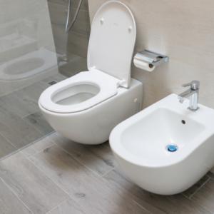 Toilette und Bidet